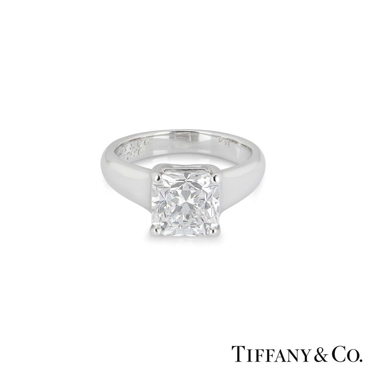Tiffany & Co. Diamond Platinum Lucida Ring 2.08ct G/VS1